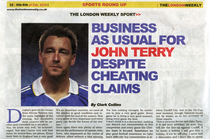The London Weekly: back page