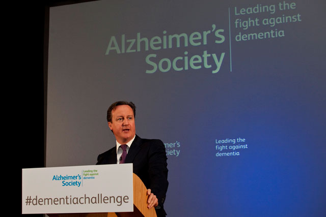 Priority: David Cameron is adding his weight to the dementia campaign