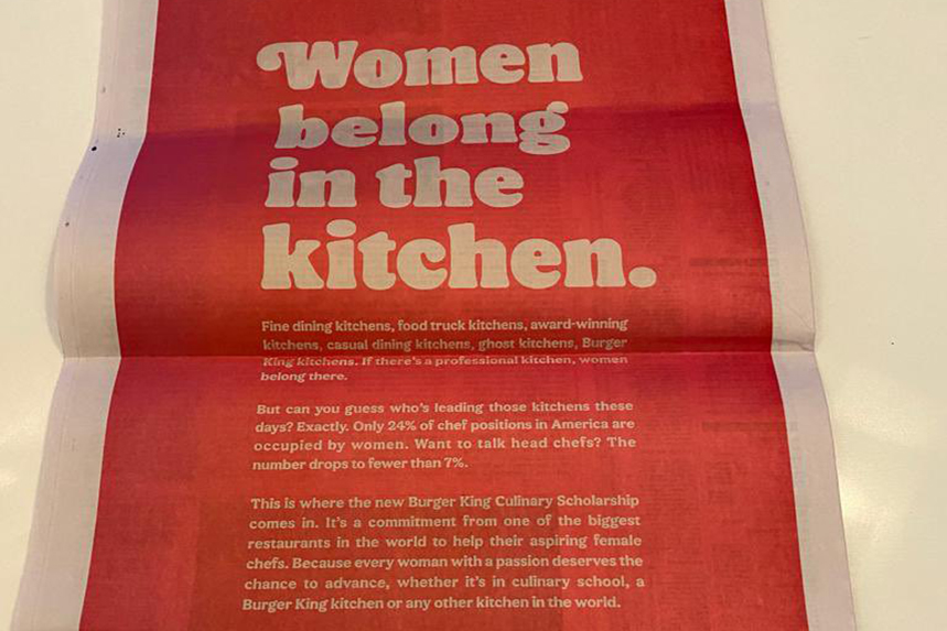 Lazy Misogynistic Inverted Trolling Tone Deaf Burger King Tweet About Women In The Kitchen Leaves Foul Taste Pr Week