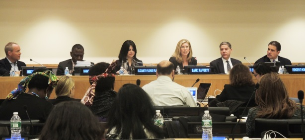 Barri Rafferty spoke on a panel at the United Nations.