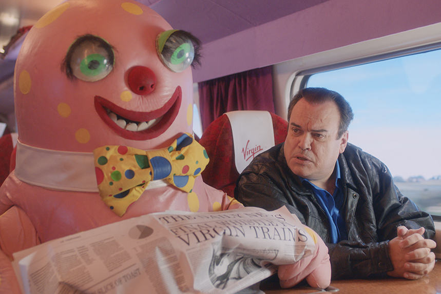 Mr Blobby and Barry from EastEnders star in Virgin Trains final campaign.