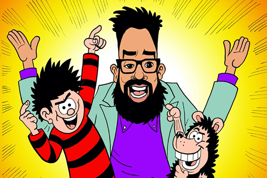 Comedian Romesh Ranganathan is teaming up with Beano to find Britain's funniest family