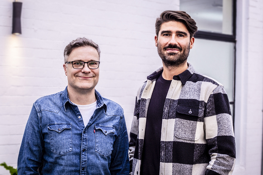 Good Relations executive creative director Ben Winter and earned creative director Ollie Edwards