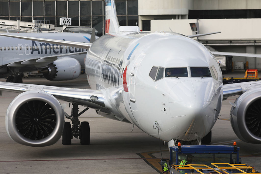 A grounded American Airlines 737 Max (©GettyImages)