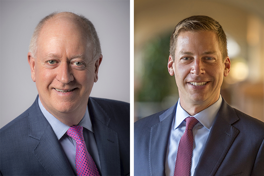 Boeing's Charlie Miller (L) has departed; Gordon Johndroe (R) takes the helm of global comms
