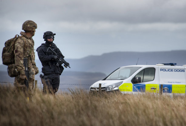 Exercise Border Reiver involved multiple agencies in the simulated terrorist attack (pic credit: Northumbria Police)