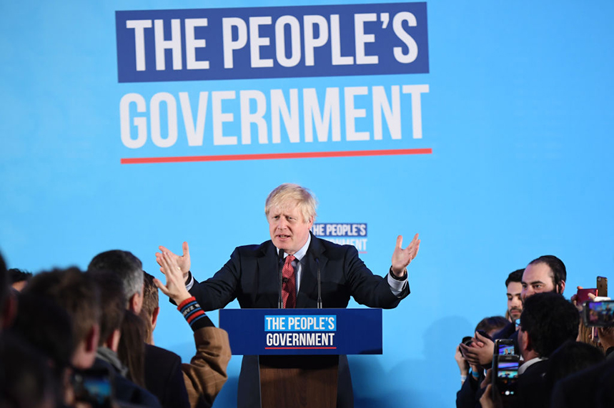Boris Johnson's simple election campaign messaging proved effective as he secured a landslide election win. (Main photo: Chris J Ratcliffe, thumbnail Ben Stansall/Getty Images)