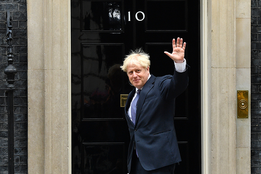 Boris Johnson has appointed a new official spokesperson, following James Slack's move into another Downing Street role (pic credit: Getty)