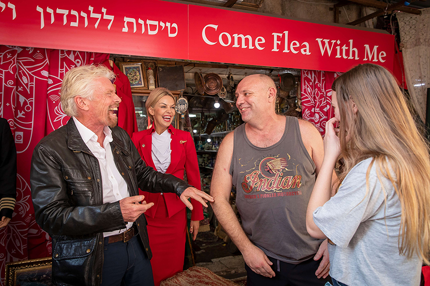 Virgin Atlantic founder Richard Branson barters with Israelis