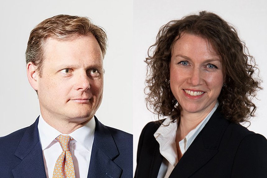 Tom Burns and Meaghan Ramsey: co-leads of Brunswick's London office