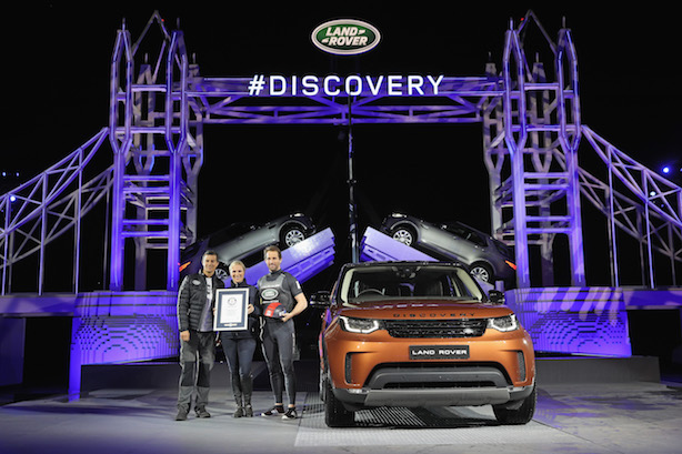 Bear Grylls, Zara Phillips and Sir Ben Ainslie helped Land Rover launch the new Discovery