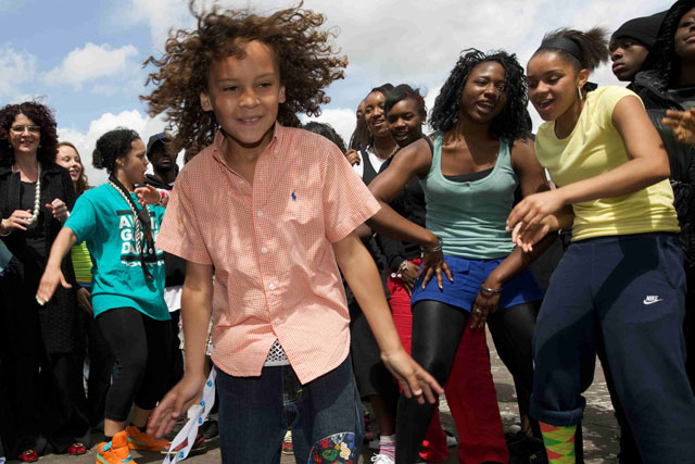 Young crowd: 'Alternative' torch relay will record their messages