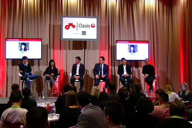 Panel at OMD Oasis on creativity and technology.