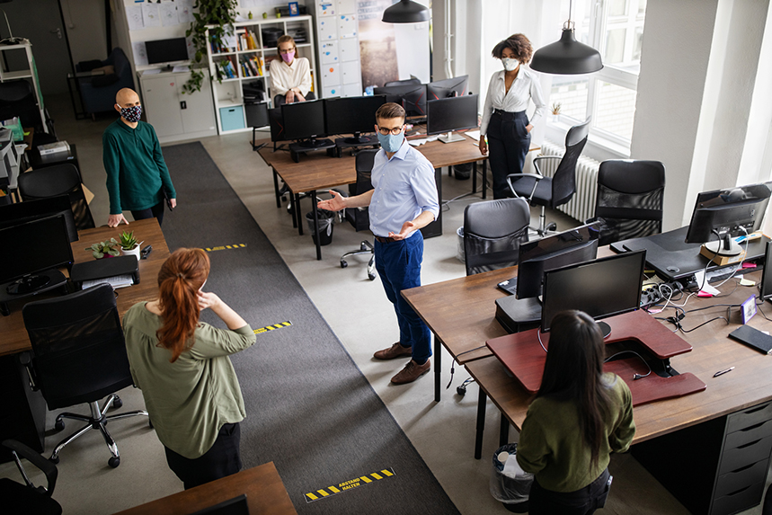 New office conditions will require a greater focus on internal comms, a study has found (Photo: Getty Images)