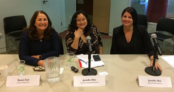 Panelists Can, Kho, and Risi spoke at Philanthropy Works.