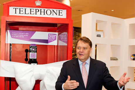 On call: Former skills minister John Hayes launches the careers service