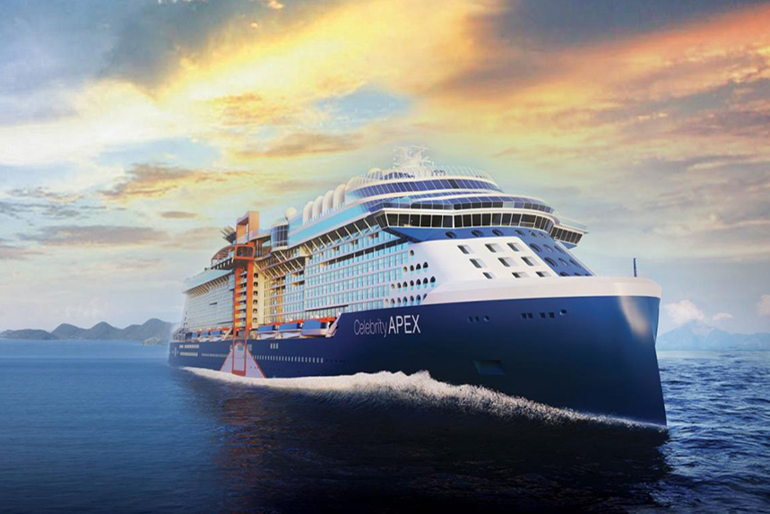 Celebrity Cruises' latest ship, the Apex.