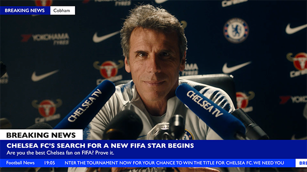 Chelsea legend Gianfranco Zola is o the hunt for talent.