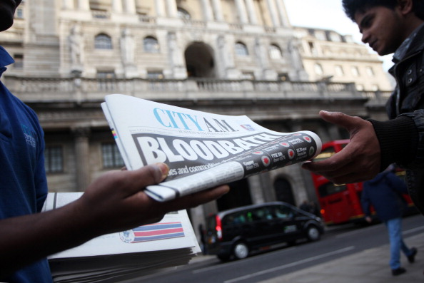 City AM: distributed free on the streets of London