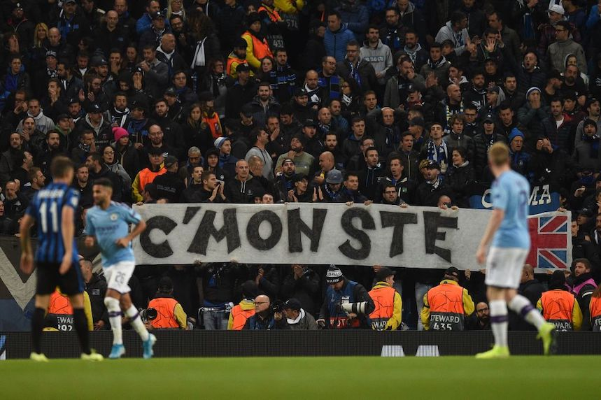 Plenty turned up to Manchester City's home game against Atalanta last night. (Photo: Getty Images)