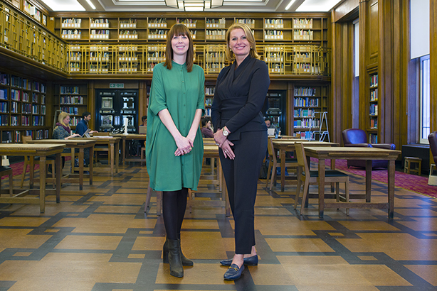 Katie Steels, head of communications and engagement, London School of Hygiene and Tropical Medicine (left), and Claire Gillis, international head of WPP Health Practice