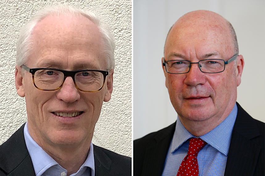 (L-R) John Griffith-Jones and Alistair Burt have joined GK Strategy