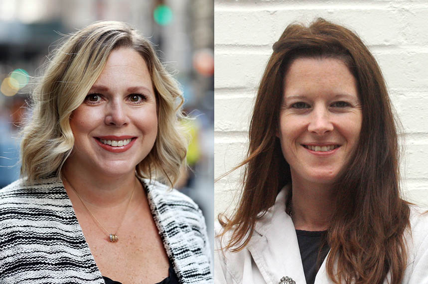 Maura Bergen (L) and Lisa O'Sullivan (R) will co-lead the Porter Novelli's global health team