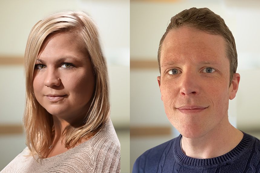 New faces: Donna Curran (L) and Mark MacDonald (R) have joined Hanover Health