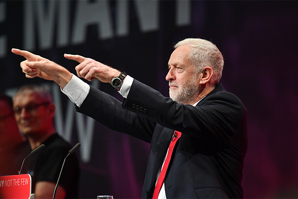Jeremy Corbyn speaks to the party faithful at Labour Conference 2017 (pic credit: A Davidson/SHM/REX/Shutterstock)