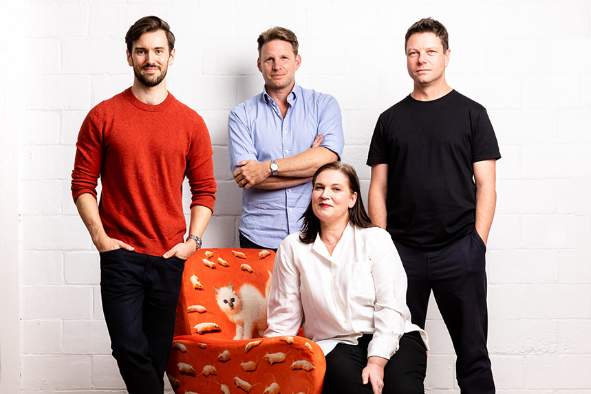Matt Wilcock, Mark Perkins, Donald Swanepoel and Sian Morgan (front).