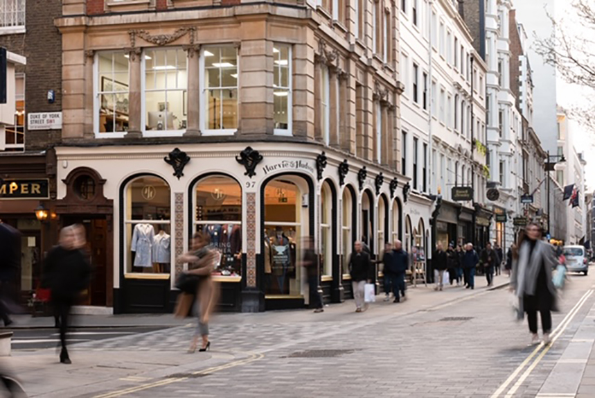 Jermyn Street is part of The Crown Estate's holdings in central London
