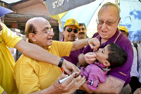 Beating polio: Rotary celebrates the eradication of polio in India