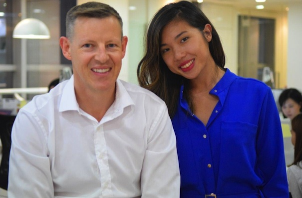 Damien Ryan, founder and managing director at Ryan Communication and Peggy Wu, the firm's digital strategist