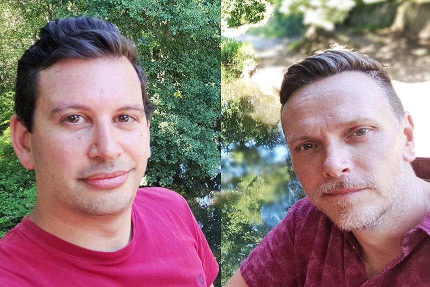 (L-R) Mongrel Creative co-founders Damiano Polcaro and Paul Pilbeam