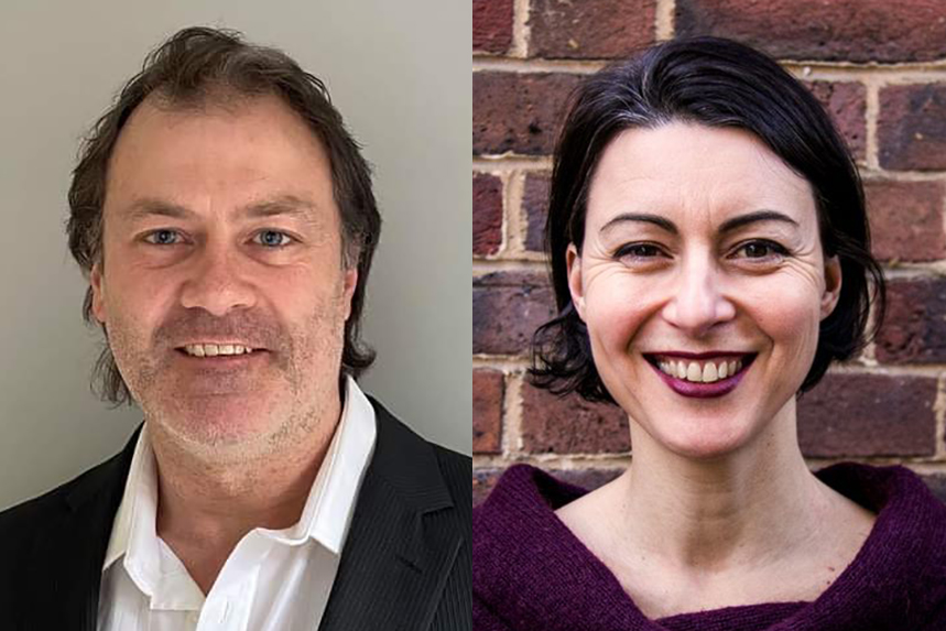 (L-R) Splendid's new CFO Damon Kelly and head of wellbeing Jane Latham