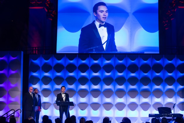 David Hogg captivated the 20th Anniversary PRWeek Awards audience (Pic: Erica Berger)