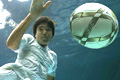 Making a splash: a recent Umbro photo shoot featured Deco playing underwater