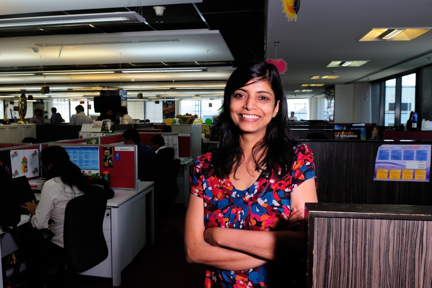 Deepika Warrier at the PepsiCo India office in 2012. Source: Getty Images