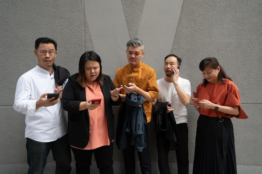 From left to right: Jin Ooi, BlessAnn Luah, Junren Xiao, David Tan, Lena Soh-Ng