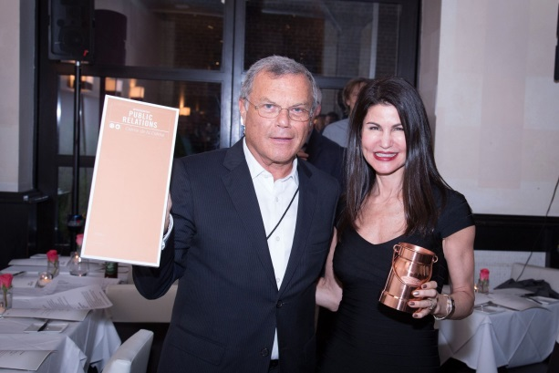 Imperato celebrates with Sorrell at WPP internal awards in 2015 (Source: C&W Facebook page).