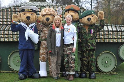 Eggs for Soliders enlisted Gaby Roslin and Nell McAndrew