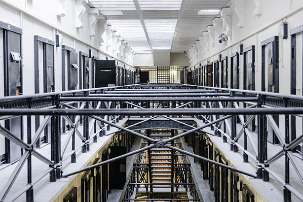 Cells and landing in the Crumlin Road Gaol, a Victorian built prison (Pic credit: Stephen Barnes / Alamy Stock Photo)