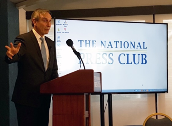 Richard Edelman calls the PR industry to order at The National Press Club in DC.