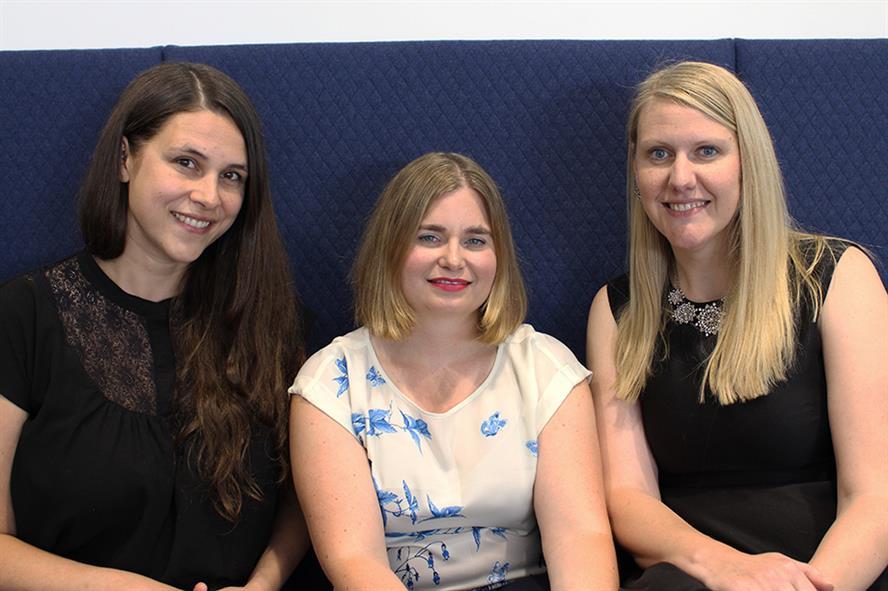 Edelman UK's new healthcare leadership team (L-R): Ashlea Reece, Eleanor Read and Angela Mahaney