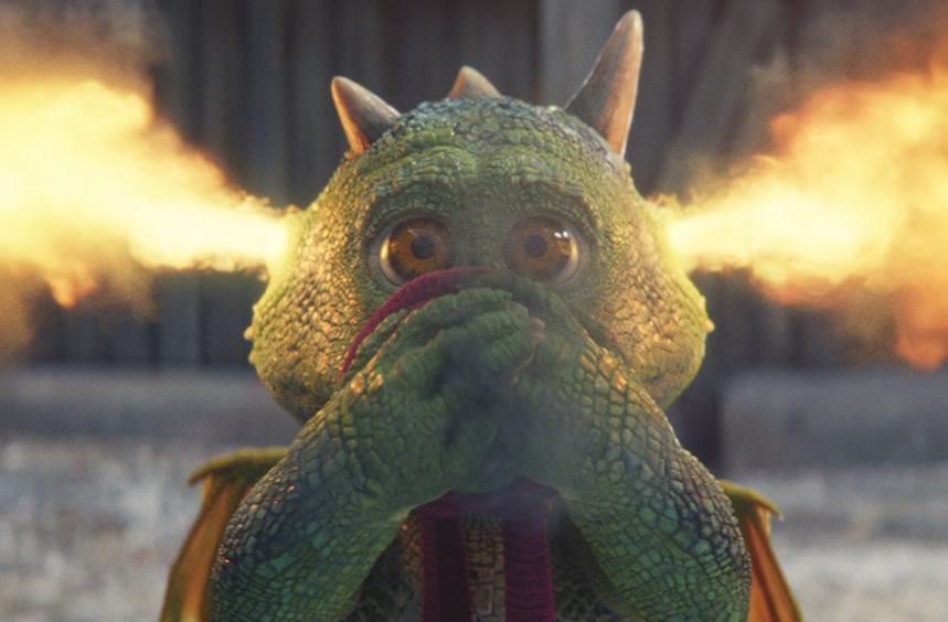 Edgar the dragon is the star of this year's John Lewis/Waitrose Christmas ad.