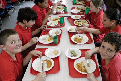 Digital menu: school dinners on Twitter