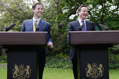 Plans: Nick Clegg and David Cameron agreed to regulate lobbying (Credit: Christopher Furlong/Getty Images Europe)
