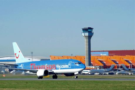 NATS: handles air traffic services for UK airports including Luton (above)
