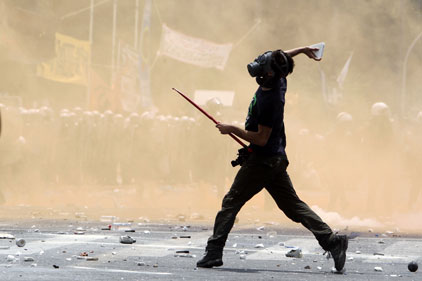 Associated Press: AP photo of an Athens protester