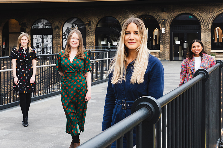 FleishmanHillard creatives (L-R): Ellie Scott-Smith, Rachel O'Malley, Ellie Tuck and Rianna Joseph